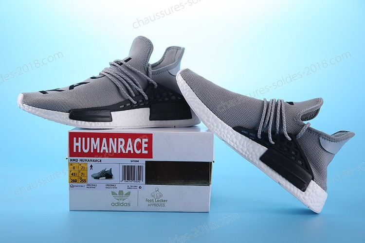 "Incroyable Pharrell Williams X Adidas NMD HUMAN RACE ""Gery Noir"" S79164 Hommes Taille:EUR39-45 UK5.5-10 Pas Cher  - Incroyable Pharrell Williams X Adidas NMD HUMAN RACE ""Gery Noir"" S79164 Hommes Taille:EUR39-45 UK5.5-10 Pas Cher-01-1"