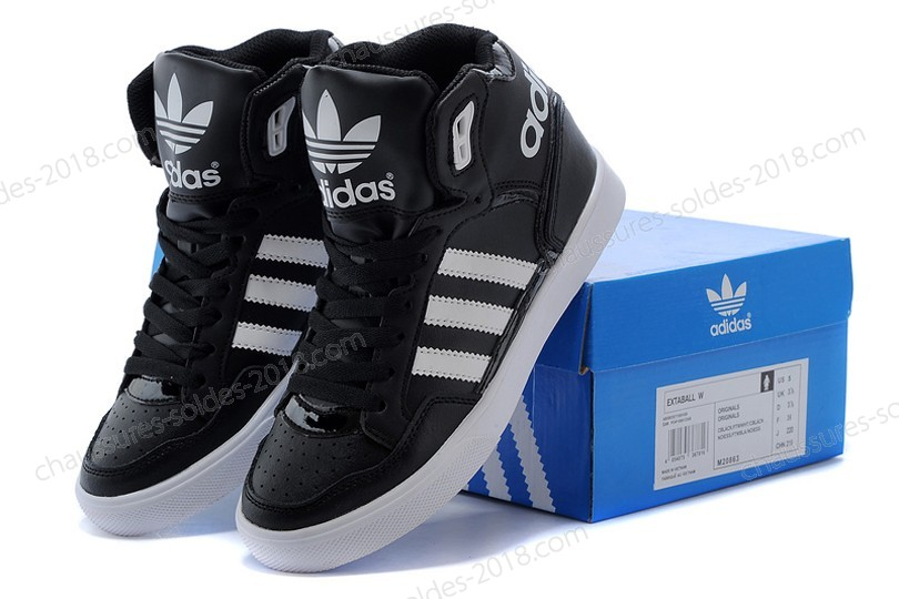 Magasin Officiel 2017 Adidas Originals Extaball High Tops M20863 hommes & femmes - Noir/blanc à Prix Discount  - Magasin Officiel 2017 Adidas Originals Extaball High Tops M20863 hommes & femmes Noir/blanc à Prix Discount-01-6
