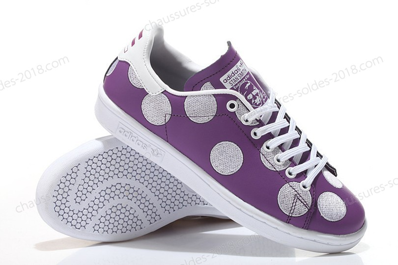Trainers Pharrell Williams x Stan Smith BPD Big Polka Dots 2017 hommes- Violet/blanc à Bas Prix - Trainers Pharrell Williams x Stan Smith BPD Big Polka Dots 2017 hommes Violet/blanc à Bas Prix-01-3