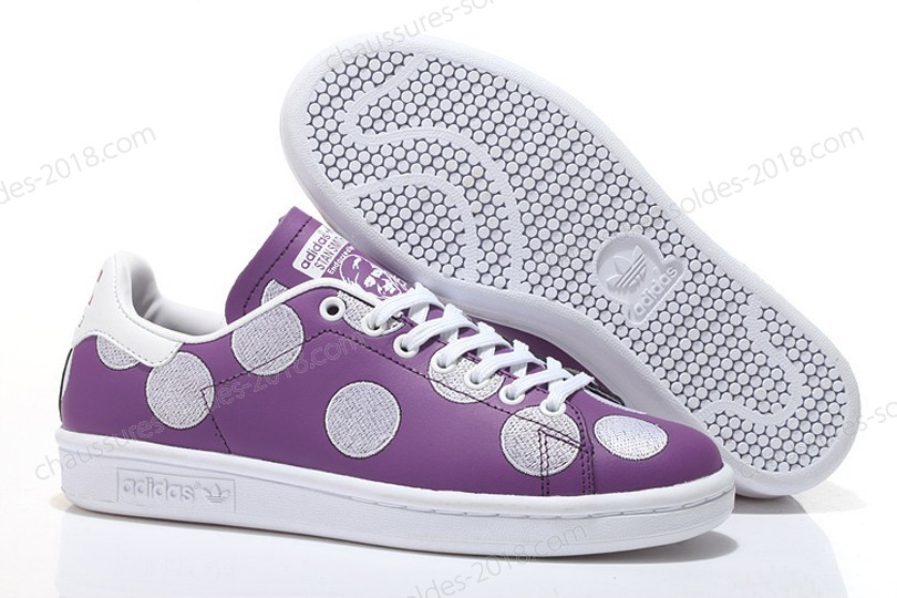 Trainers Pharrell Williams x Stan Smith BPD Big Polka Dots 2017 hommes- Violet/blanc à Bas Prix - Trainers Pharrell Williams x Stan Smith BPD Big Polka Dots 2017 hommes Violet/blanc à Bas Prix-01-4