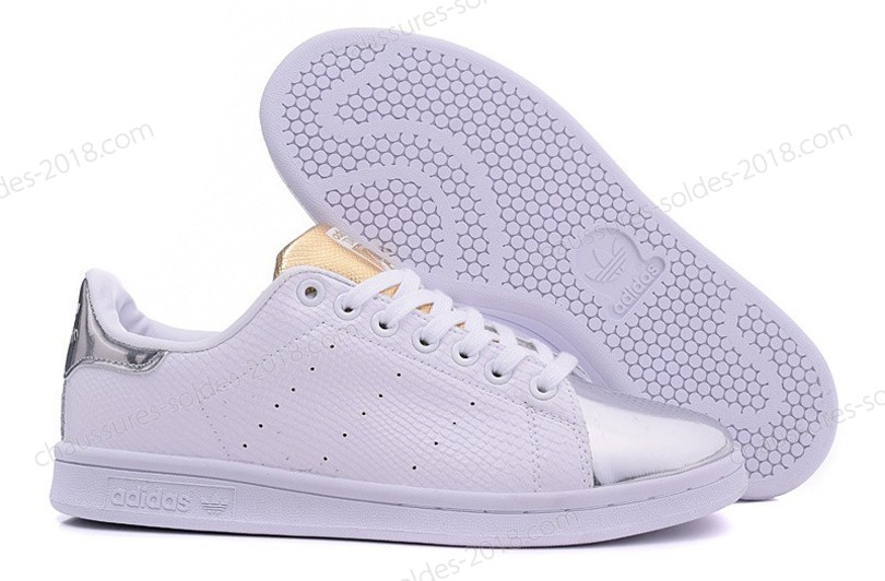 "Authentique 100% En promotion 2017 Stan Smith B24699 Adidas Originals ummer Metallic"" - blanc/argent - Authentique 100% En promotion 2017 Stan Smith B24699 Adidas Originals ummer Metallic"" blanc/argent-01-4"