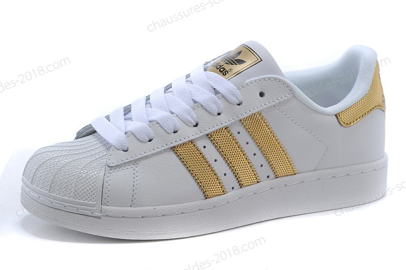 "Bon Marché Adidas Originals Superstar II 2 Clover Couples Chaussures V24626 ""Bling Pack"" blanc Or Parfait - Bon Marché Adidas Originals Superstar II 2 Clover Couples Chaussures V24626 ""Bling Pack"" blanc Or Parfait-01-0"
