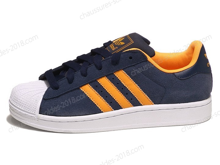 Magnifique Sneakers Adidas Originals unisexe Superstar Ii V22967 bleu Orange à La Vente - Magnifique Sneakers Adidas Originals unisexe Superstar Ii V22967 bleu Orange à La Vente-01-0