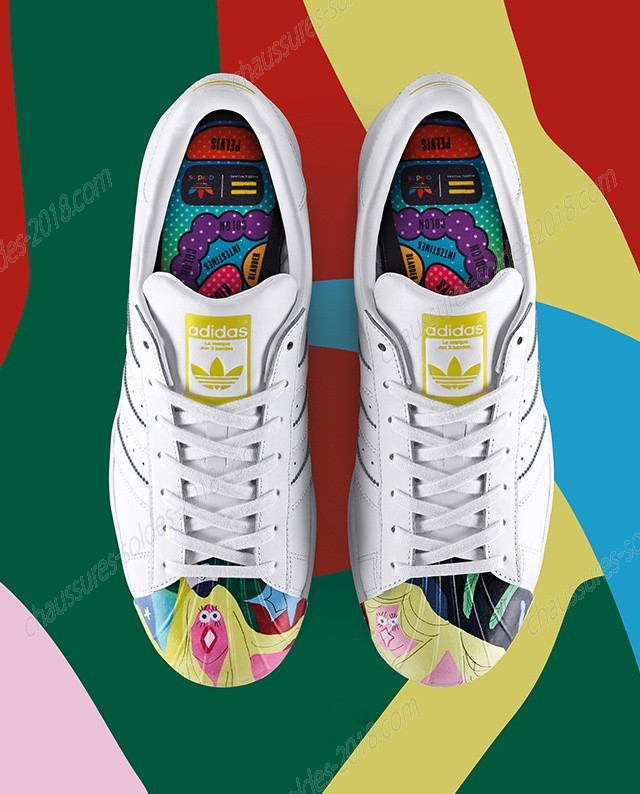 En Solde Adidas Superstar x Pharrell Williams Supershell S83356 Todd James Graphic blanc Meilleure qualité - En Solde Adidas Superstar x Pharrell Williams Supershell S83356 Todd James Graphic blanc Meilleure qualité-01-0