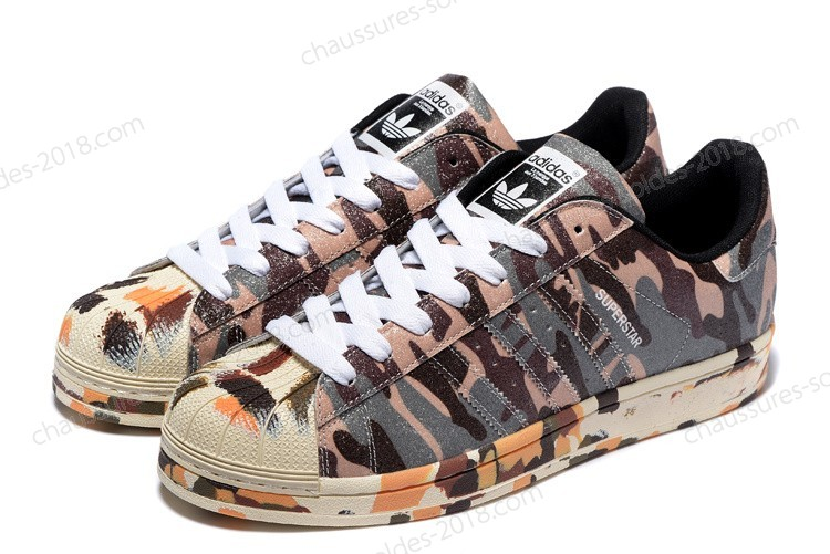 Confortable Solde Adidas Superstar II 2 Ink marron camouflage Originals hommes & femmes M25961 Pas Cher  - Confortable Solde Adidas Superstar II 2 Ink marron camouflage Originals hommes & femmes M25961 Pas Cher-01-9