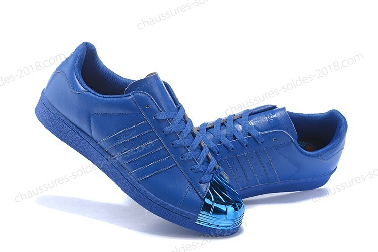 Chaussures de Running Chic Adidas Originals Superstar 80s Pharrell Williams x Supercolor Chaussures Bleu Metallic S41814 Chaussures - Chaussures de Running Chic Adidas Originals Superstar 80s Pharrell Williams x Supercolor Chaussures Bleu Metallic S41814 Chaussures-01-1