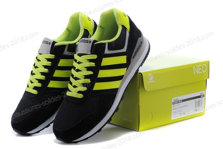 Bon Marché Adidas Runeo 10k NEO Hommes Incroyable chaussures F38497 Noir/Fluorescent Green - Bon Marché Adidas Runeo 10k NEO Hommes Incroyable chaussures F38497 Noir/Fluorescent Green-01-9