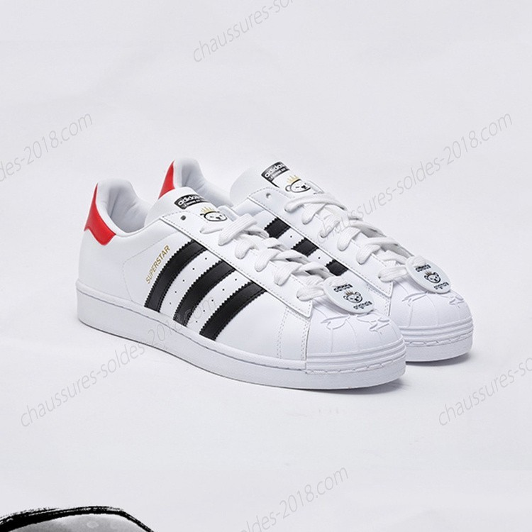 Meilleure qualité Adidas Originals 25 Superstar NIGO BEARFOOT BEAR S75552 blanc/Noir/blanc Baskets - Meilleure qualité Adidas Originals 25 Superstar NIGO BEARFOOT BEAR S75552 blanc/Noir/blanc Baskets-01-3