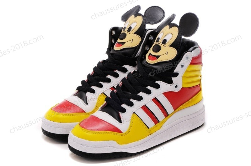 Jeremy Scott Adidas Originals JS Mickey Hi Super limited fashion Sneakers Jaune rouge blanc Noir à Prix Dynamité - Jeremy Scott Adidas Originals JS Mickey Hi Super limited fashion Sneakers Jaune rouge blanc Noir à Prix Dynamité-31