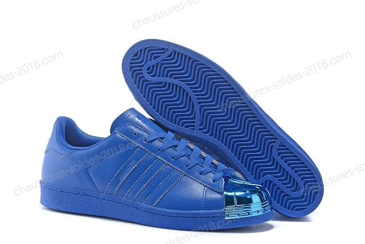 adidas superstar bleu metallic