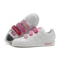Authentique 100% En promotion Adidas femmes Originals Stan Smith 451448 Casual blanc Rose-20