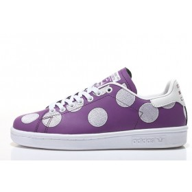 Trainers Pharrell Williams x Stan Smith BPD Big Polka Dots 2017 hommes- Violet/blanc à Bas Prix