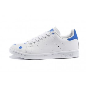 Authentique 100% En promotion Adidas Originals Stan Smith D67360 hommes/femmes blanc/bleu