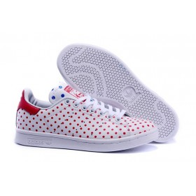 chaussuress Adidas PW Originals Stan Smith SPD B25401 unisexe Causal Walking blanc rouge Livraison Rapide