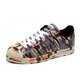 Confortable Solde Adidas Superstar II 2 Ink marron camouflage Originals hommes & femmes M25961 Pas Cher