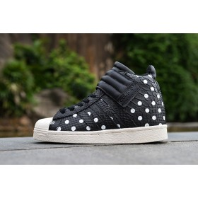 Nouvelle Collection Adidas 2017 Superstar Up Strap S81718 femmes 36-40 Polka Dots Noir/blanc EN SOLDE