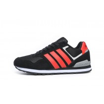 Bon Marché Adidas Runeo 10k NEO Hommes Incroyable chaussures Noir/rouge Suede F98294-20
